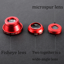 New Universal 3in 1 Lens Wide Angle Lens Fish Eye Camera Lens Clear Macro Cell Phone Lens For iphone 6 Samsung Galaxy Xiaomi