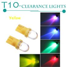 10Pcs Clearance Lights T10 5W LED car lights 12V Blue / green / red / white / yellow Car lights  CD00169(China (Mainland))