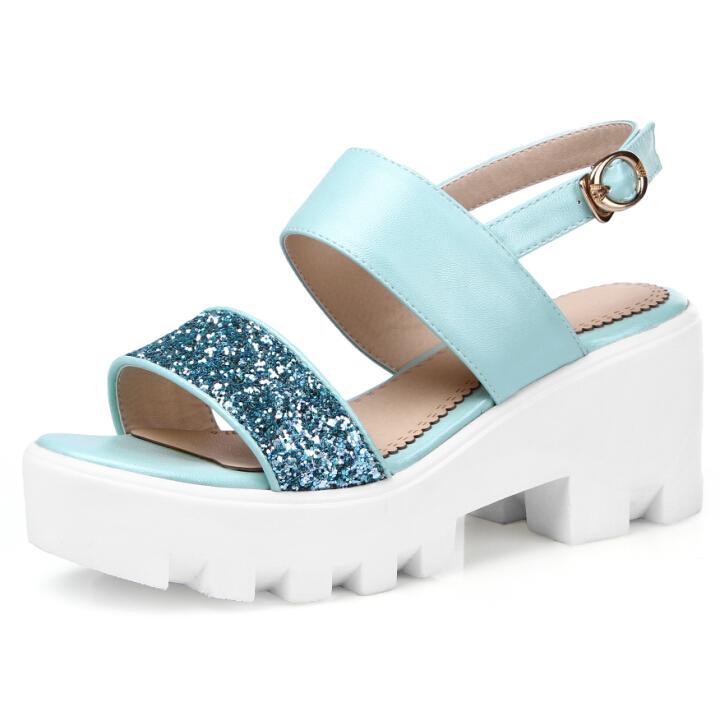 ENMAYER Women Sandals Sexy Gladiator Ankle Straps High Heels Summer Shoes new Designer Open Toe Platform Sandals