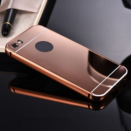 fashion luxury coque Mirror aluminium alloy capinha back cover i phone6 phone5 4.7inch case for Apple iphone 6 s 5 5s 6s plus(China (Mainland))