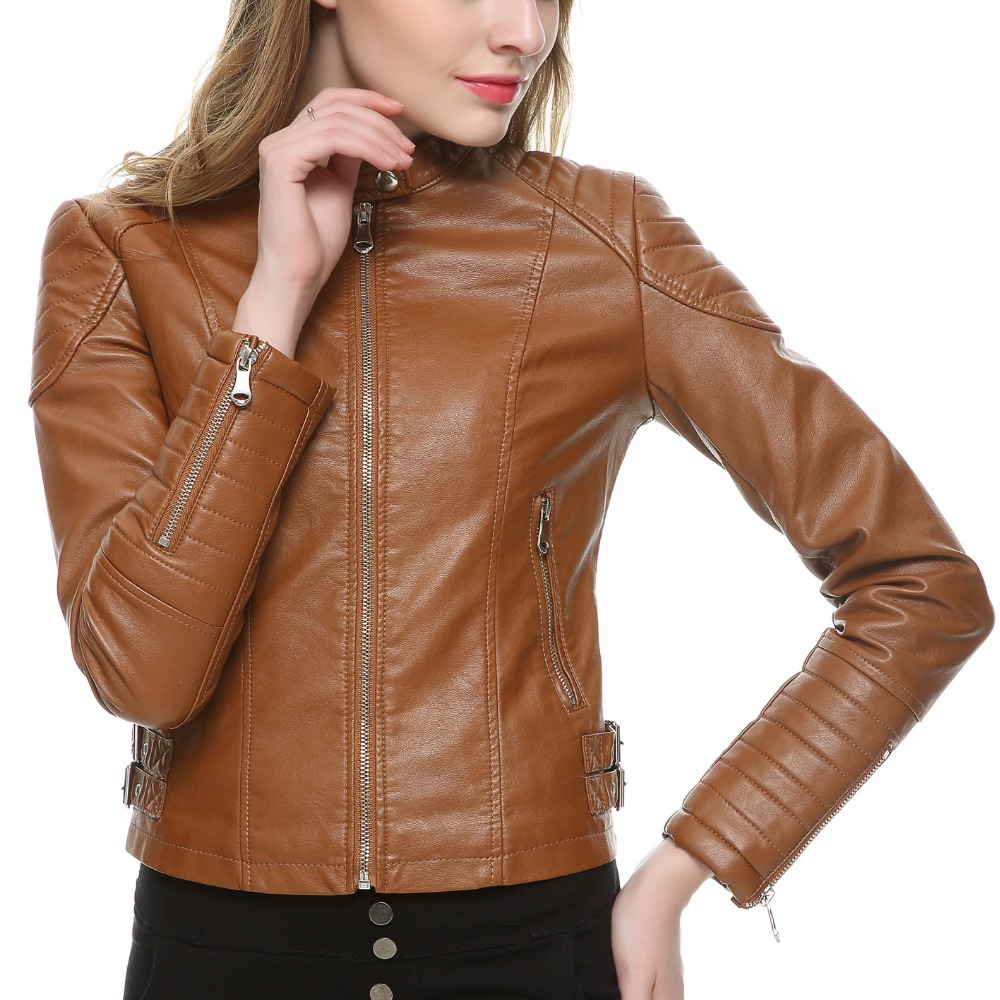 Brown Women Leather Jacket