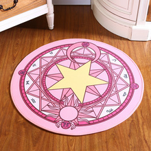Anime Cardcaptor Sakura Kinomoto Sakura Round Style Decoration Fluffy Rugs Anti-Skid Shaggy Area Home Bedroom Carpet Floor Mat(China (Mainland))