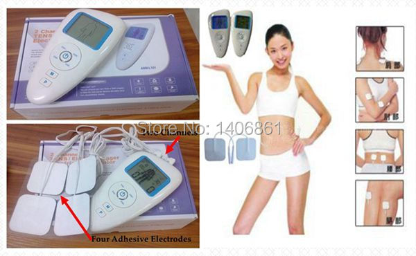 Body massager Top Health Care Tens Acupuncture Electric Therapy Machine Pulse Foot Slimmming Body Sculptor Massager Apparatus(China (Mainland))