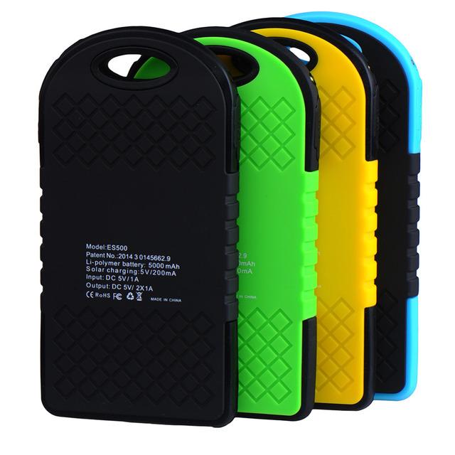 5000mAh Dual USB Waterproof Solar Phone Charger