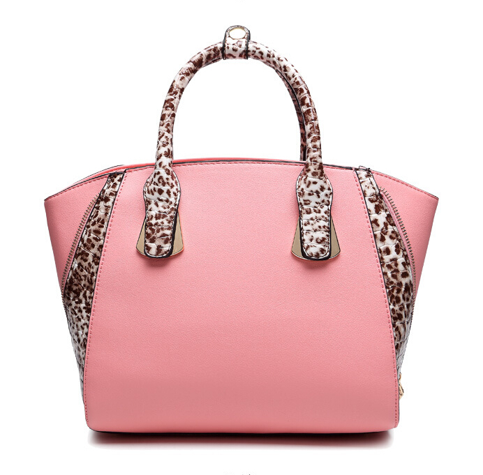 Fashion large bag ladies pink tote bag women PU leather handbags famous brand designer handbag women bag LP2832(China (Mainland))