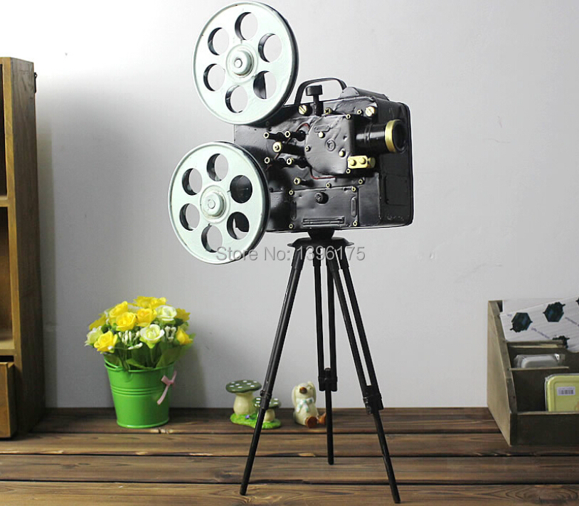 2014 New Camera Model Tripod Photography Props Vintage Home Decor Antique Imitation metal craft Gifts Home Decoration(China (Mainland))