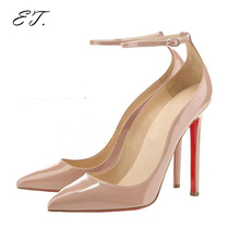 2016 valentine shoes zapatos mujer women shoes high heel women pumps red bottom high heels shoes woman(China (Mainland))