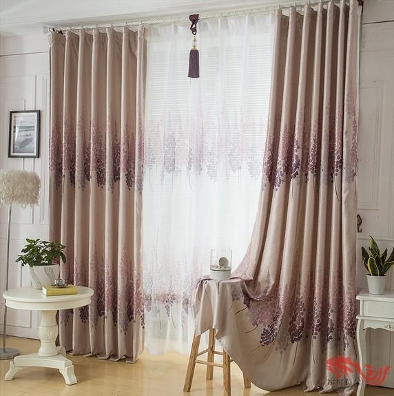 Cortinas de janela para sala de estar quarto moderno breve cortina de impress