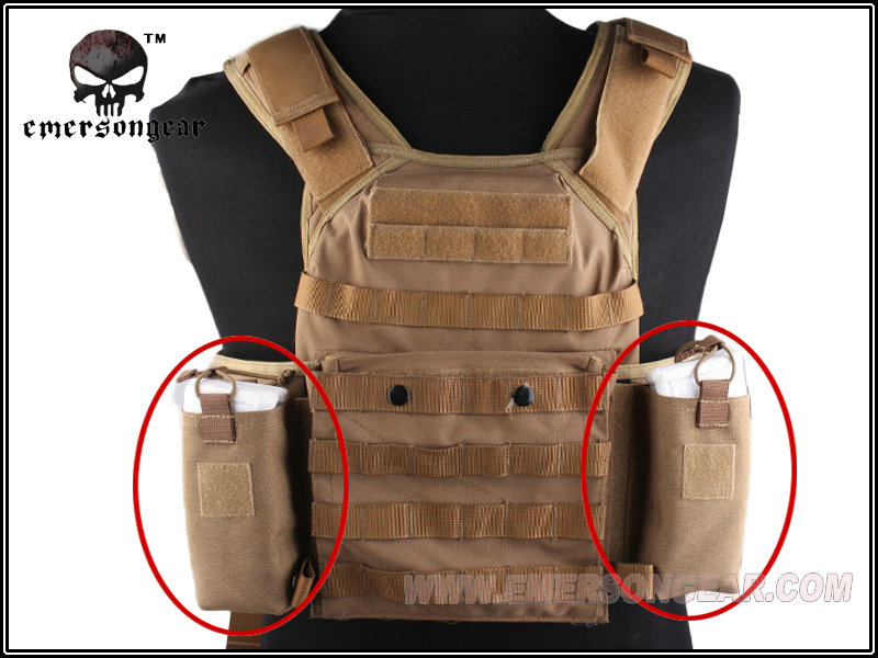 Utility military pouch EMERSON MOLLE JPC Vest MBITR Radio Pouch Set eight colour nylon 8333(China (Mainland))