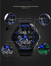 Original Waterproof S shock New Fashion Sport Watch Quartz Wrist Mens sportswatches Analog Digital Waterproof military