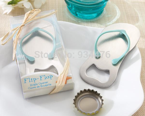 Pop the Top flip flop bottle opener 100PCS/LOT wedding bridal shower favor guest gift for men Free shipping(China (Mainland))