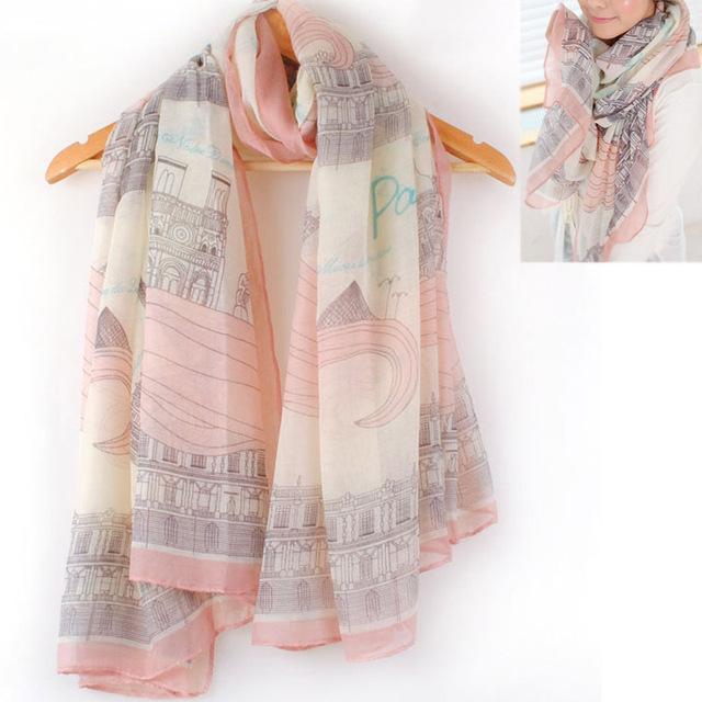 Новый женский леди девушка красивые длинные хлопка печать шарфа шаль большой шарфы