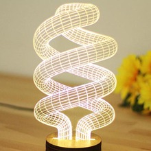 DNA Shaped 3D Bedroom Lights LED Night Lamp USB Table Desk Lamps Night Lights Novelty Unique(China (Mainland))