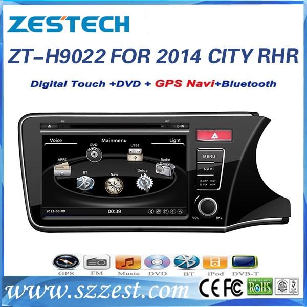 Autoparts manufacturer Car DVD radio media player for Honda City 2014 2015 2 din car dvd player with gps audio radio TV BT MP3/4(China (Mainland))