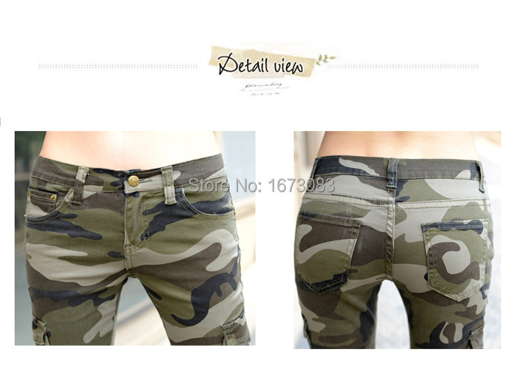 1a4be236a4b71 2019 Plus Size Camo Skinny Jeans Women Camouflage Jeans Slim Pencil Jean  Femme Denim Pants Pantalones Vaqueros Mujer From Yanmai