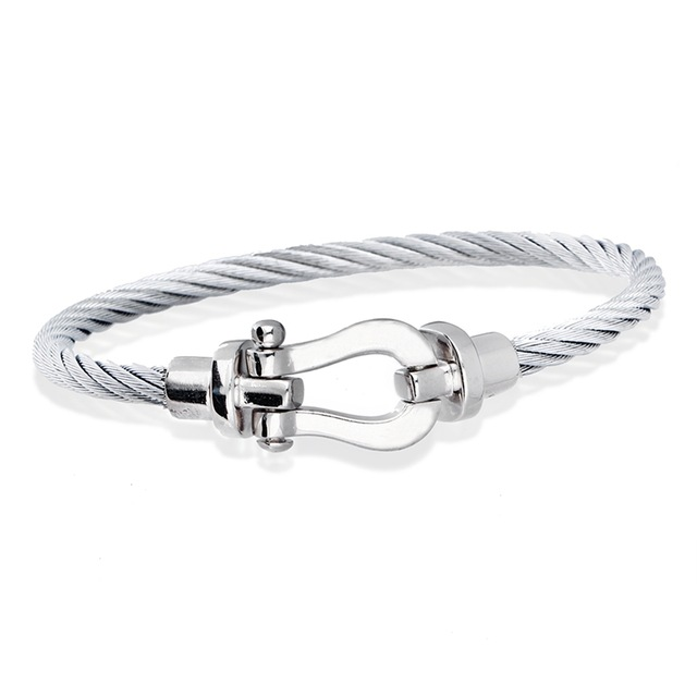 2016 newest high quality france jewelry brand fred buckle bracelet made by titanium steel()