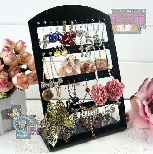 Free shipping Plastic earring holder display pendant Shelf display jewelry Display Stand earrings board