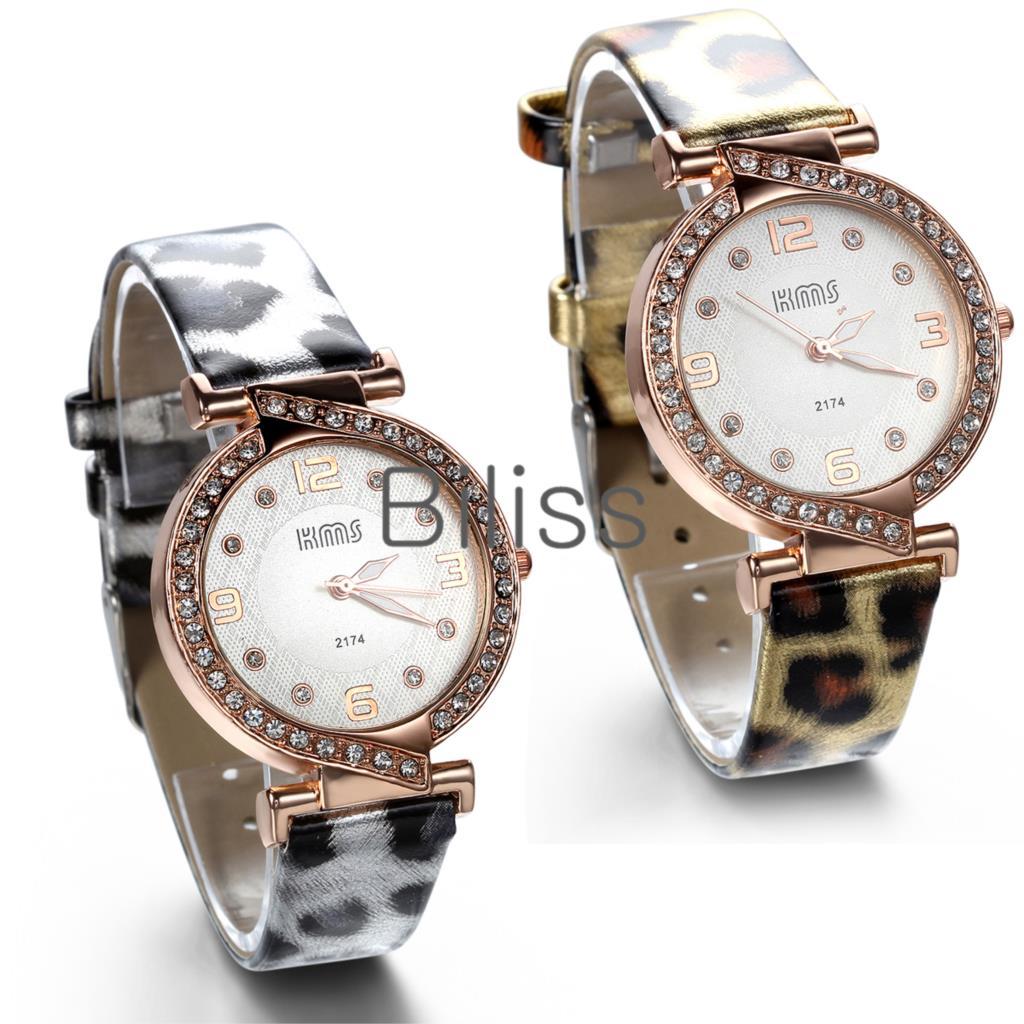 2015 Luxury Full Rhinstone Women Dress Watches Leopard Leather Quartz Watches Men Causal Bussniess Wristwatches reloj mujer(China (Mainland))