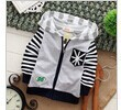 2016 spring new fashion wear colored stripes children outerwear kids jackets hooded boys and girls clothes(China (Mainland))