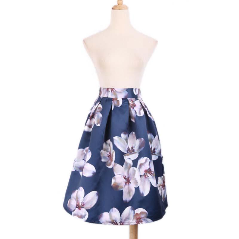 autumn winter vintage skirt tulip floral print gown