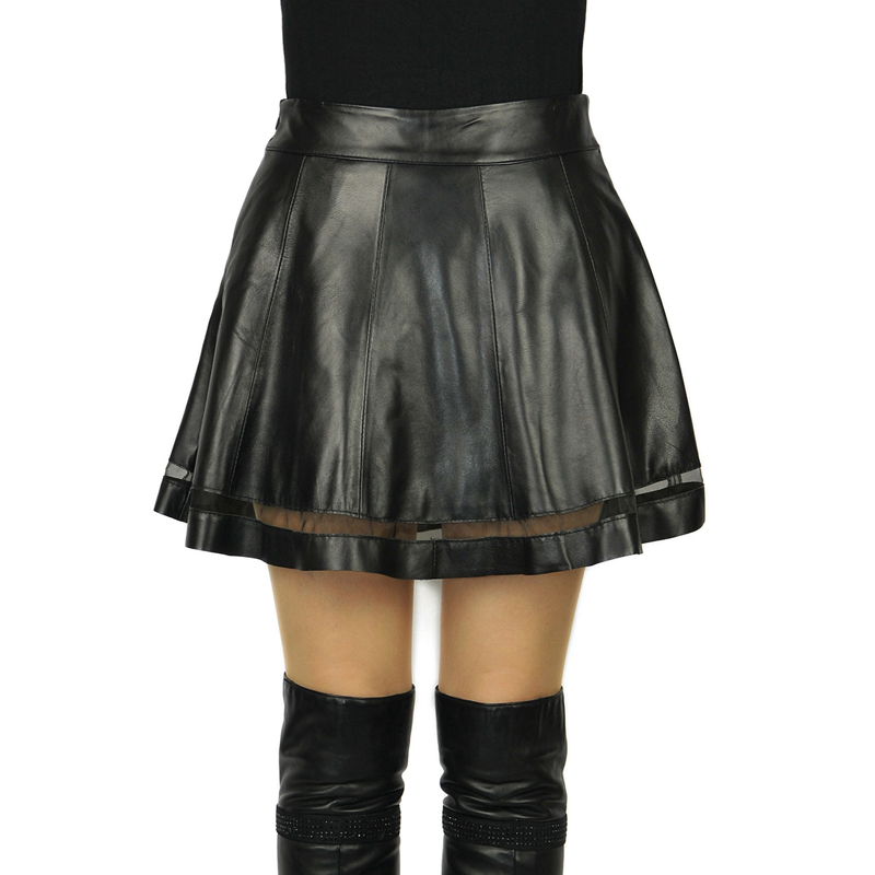 real leather skirt 2015 genuine sheep leather