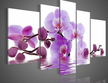 NEW 2014 110CMX60CM  hand-painted Free shipping famous oil painting high quality Modern artists painting Butterfly orchid DY-023