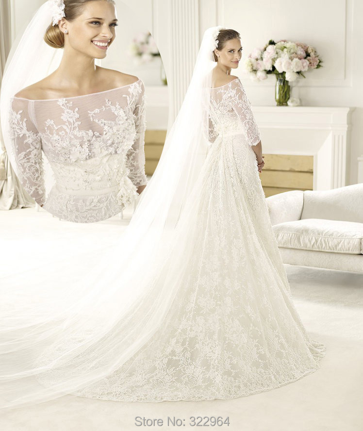 Wedding dresses: boat neck wedding dresses