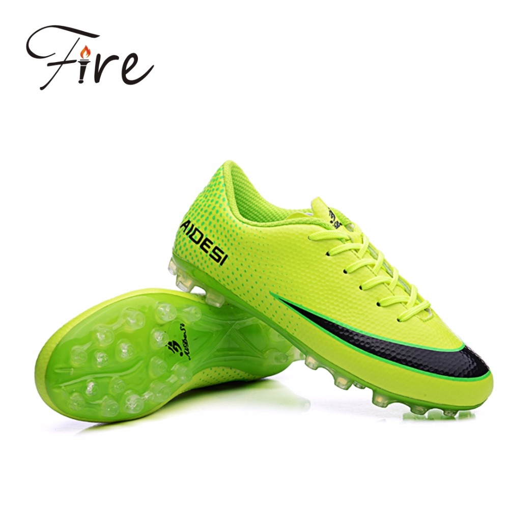2016new men's outdoor sports training soccer cleats boy leather sneakers for children sports football shoes boots(China (Mainland))