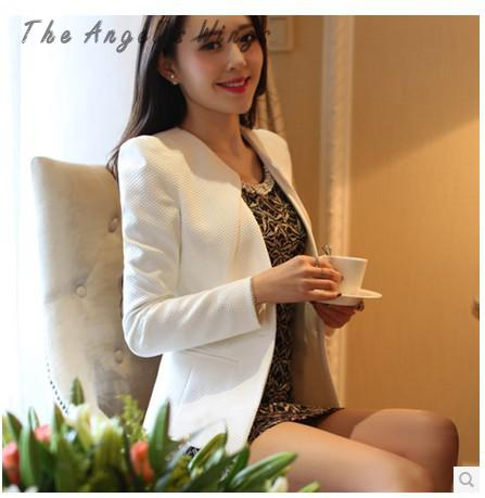 White Suit Coat Female Short Sleeved Slim Women Suit Blazer Women Saco Terno Women Blazers Jackets Anzug Un Costume672