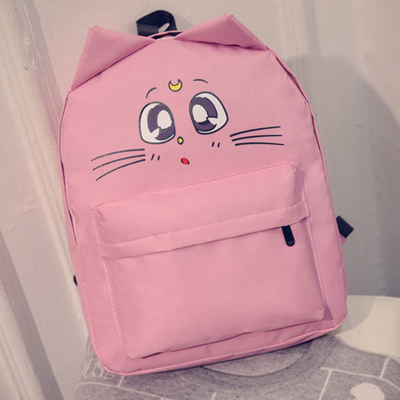 2016 Campus Women Girl Backpack Travel Bag Young Canvas Preppy Style Backpack Fashion School travel and Sports Bag Cat Ears Bags(China (Mainland))