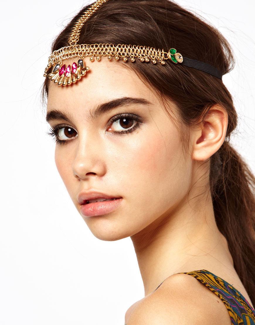 2016 New Bohemian Style Flash Diamond gem Elastic Hair Head, Band Headband Headwear Accessories For Women & Windding(China (Mainland))