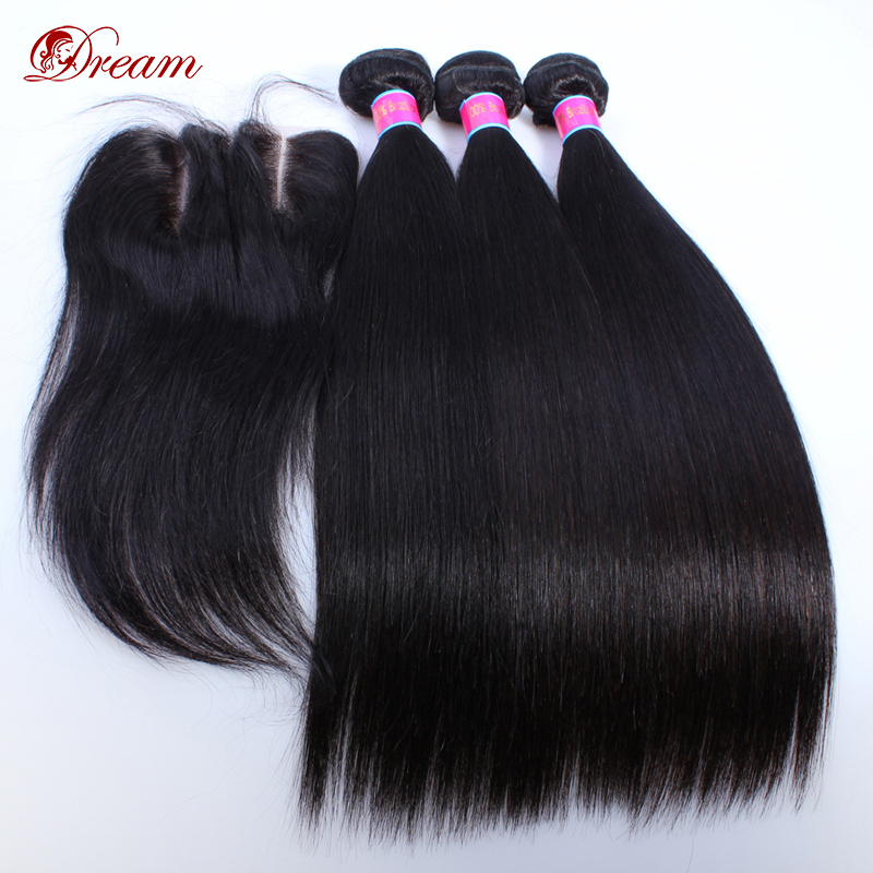 2016 New Style Grade 6A Brazilian HumanHair Bundles With Bleached Knots Lace Closure Natural Color 100% Virgin hair weaving<br><br>Aliexpress