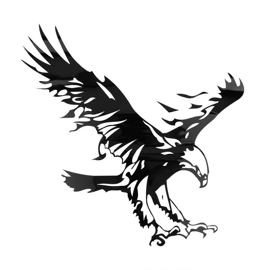 Funny Eagle Pattern Reflective Material Car Stickers Car Engine Hood Decal Emblem cool hot selling<br><br>Aliexpress