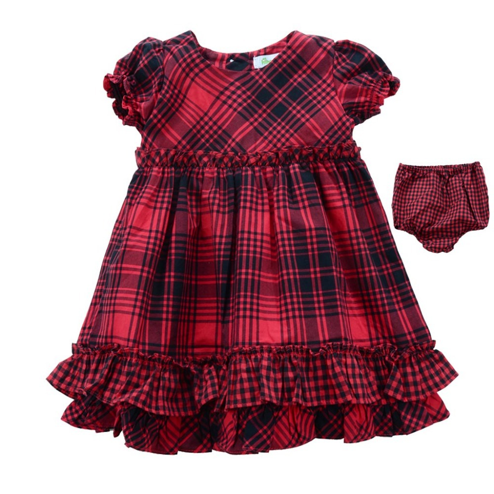 Free Shipping Newborn Baby clothing Dress With brief 2