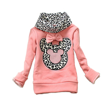 girls sweater baby leopard turtleneck pullover kids sweaters girls minnie thick shirt children winter coat baby autumn sweater(China (Mainland))
