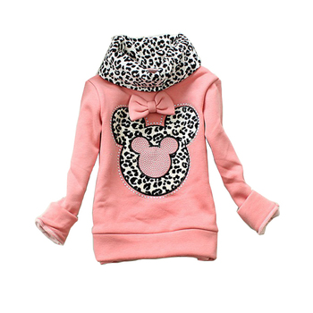girls sweater baby leopard turtleneck pullover kids sweaters girls minnie thick shirt children winter coat baby autumn sweater