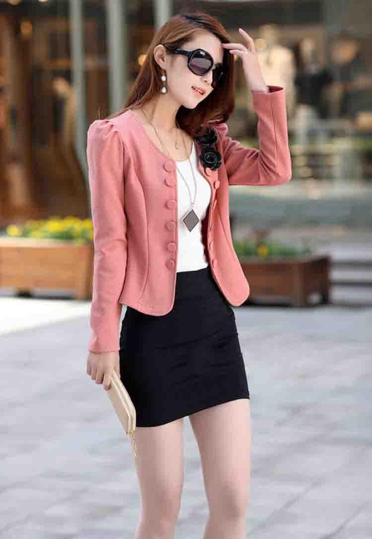 tienda online marca moda escudo chaqueta trajes de mujeres ms tamao bsico chaquetas abrigos manga regulares abrigos de vestir exteriores wf