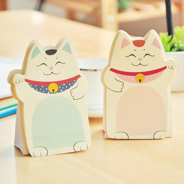2 pcs /lot Cute Cartoon Plutus Cats Memo Pad Sticky Note Kawaii Paper Stickers Creative Gift Stationery Free shipping 311(China (Mainland))