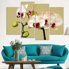Buy 4 Piece Wall Art Framed Modern Abstract HD Flower Orchid Picture image Oil Painting Canvas Home Decor picture for $19.92 in AliExpress store