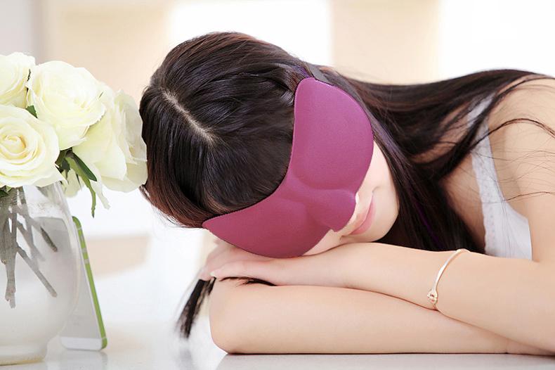 New 3D Eye Mask Shade Cover Rest Sleep Eyepatch Blindfold Shield Travel Sleeping Aid Eyeshade For Women Eye Care Tool  H7JP