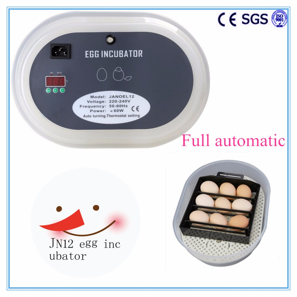 NEW!! Digital 12 Eggs Automatic Egg Turning Turner Incubator poultry Chicken Duck Bird Hatcher Brooder Good Quality(China (Mainland))