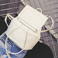 Trendy Drawstring Small Backpack Women Fashion New Simple Casual Bag Solid Color Plain Travel Bag Cheap