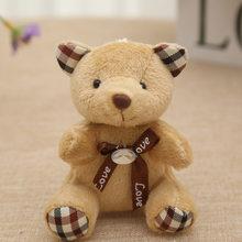 9 CM Popobe Urso de Peluche Bonito Brinquedos de Pelúcia Saco Chave Do Carro Chaveiro suporte para Pingente Boneca Crianças Brinquedos de Pelúcia Animais Urso Fofo B0903(China)