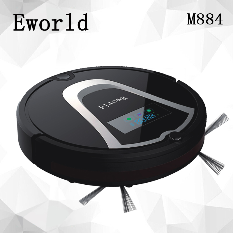 Eworld M884 Automatic Floor Cleaning Robot Mop Scrub Vacuum Cleaner Wet and Dry Cleaning Auto Charge Smart Robotic(China (Mainland))