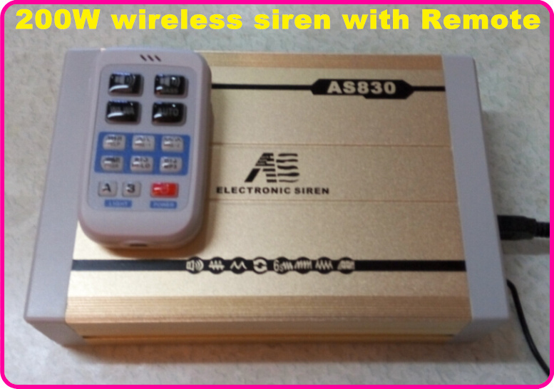 America design 300W Dual tone Police ambulance fire wireless siren alarm warning siren 11tones with remote(without speaker)(China (Mainland))
