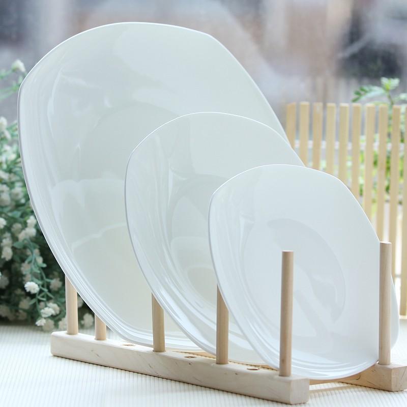 10 5 Polegada Simples Branco Pratos De Porcelana Buffet