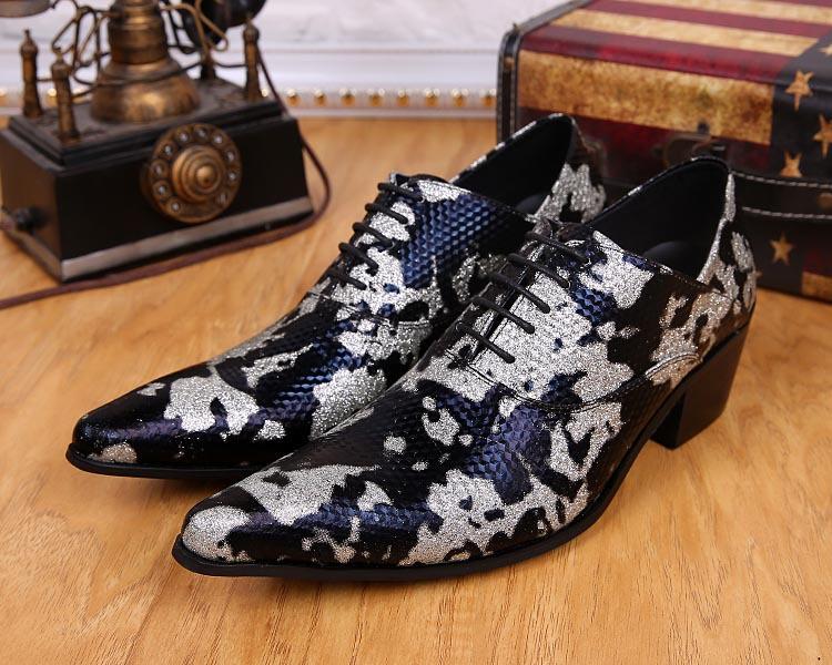 Free Ship! New 2016 Handsome Handmade Brand Design Men's Shoes Men's Leather Dress Shoes Business Men wedding Shoes Black!(China (Mainland))