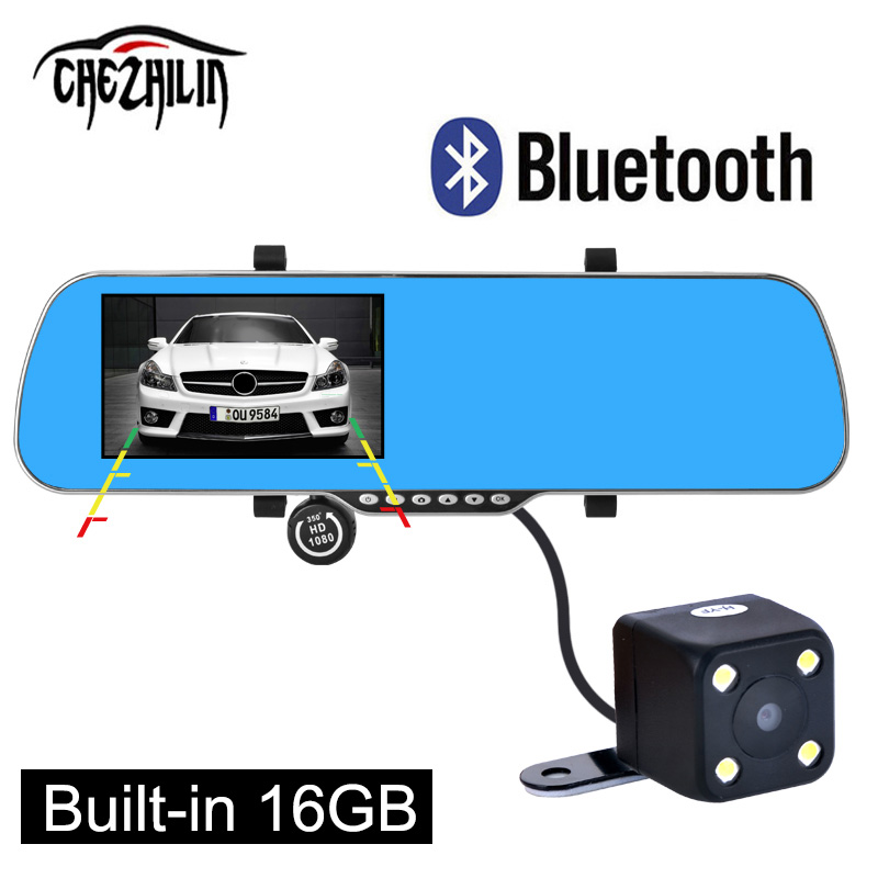 "5"" Car DVR GPS Navigation Bluetooth Rearview mirror Android 4.4 Dual Camera Europe/navitel map Truck vehicle gps 16GB/8GB(China (Mainland))"
