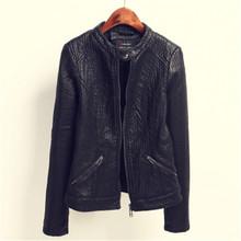 Autumn Winter Women Brand Faux Leather Jackets Pu Black Zippers Long Sleeve Streetwear Motorcycle Coat Fashion 2016 LJ3689(China (Mainland))