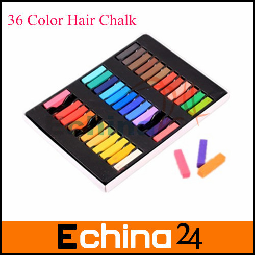 Hot Temporary 36 pcs Hair Color Dye Pastel Chalk Bug Rub Hair Color Chalk Mix Color Free Shipping